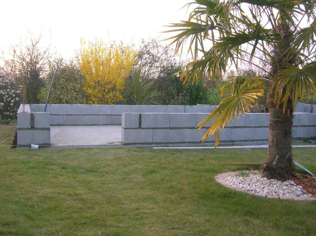Construction De Mon Abri De Jardin  Dbut De Pose De Parpaing